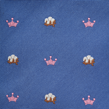 Woven King Cotton Tie - Blue